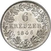 6 Kreuzer - Friedrich Günther – revers