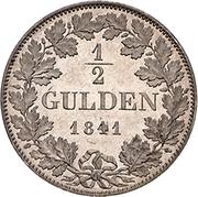 ½ Gulden - Friedrich Günther – revers