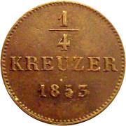 ¼ Kreuzer - Friedrich Günther – revers
