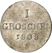 1 groschen Ludwig Friedrich II – revers