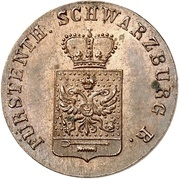 1 pfenning Friedrich Günther – avers