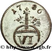 6 pfennig - Ludwig Günter II – revers
