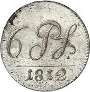 6 Pfennig - Friedrich Günther – revers