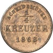 ¼ Kreuzer - Albert – revers