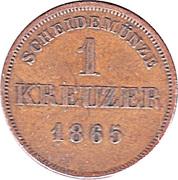 1 Kreuzer - Friedrich Günther – revers