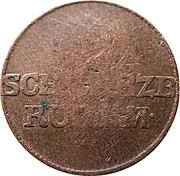 1 pfennig Ludwig Friedrich II – avers