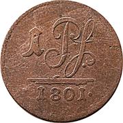 1 pfennig Ludwig Friedrich II – revers