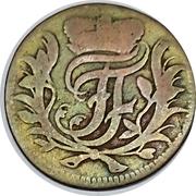 1 pfennig Johann Friedrich – avers