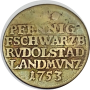 1 pfennig Johann Friedrich – revers