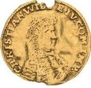 ¼ ducat Christian Wilhelm – avers