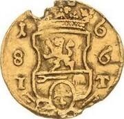 ¼ ducat Christian Wilhelm – revers