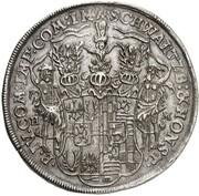 1 thaler Christian Wilhelm I et Anton Günther II – revers