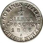 ½ Silber groschen - Günther Friedrich Carl II – revers