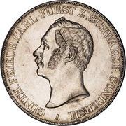 2 Thaler / 3½ Gulden - Günther Friedrich Carl II – avers