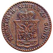 1 Pfennig - Günther Friedrich Carl II – avers