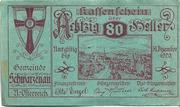80 Heller (Schwarzenau) – avers