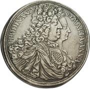 1 thaler Ferdinand Wilhelm Eusebius & Maria Anna (Kremnitz) – avers