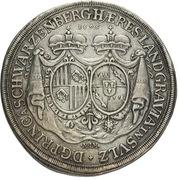 1 thaler Ferdinand Wilhelm Eusebius & Maria Anna (Kremnitz) – revers