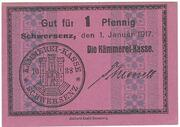 1 Pfennig Schwersenz – avers