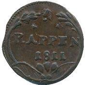 Schwyz - 1 Rappen – revers