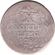 10 schilling / ¼ gulden – revers