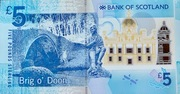 5 Pounds Bank of Scotland - Brig o' Doon – revers