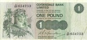1 pound (Clydesdale Bank) 1971-1981 – avers