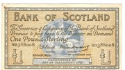 £1 Bank of Scotland – avers