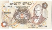 £10 Bank of Scotland – avers
