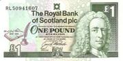 One Pound (Royal Bank Of Scotland) – avers