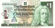 1 Pound Sterling – avers