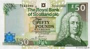 50 pounds (the Royal Bank of Scotland) – avers
