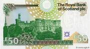 50 pounds (the Royal Bank of Scotland) – revers