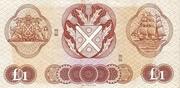 1 Pound (Bank of Scotland) – revers