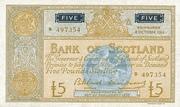 5 Pounds (Bank of Scotland) – avers