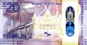 20 Pounds sterling (bank of Scotland) – revers