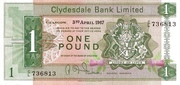 1 Pound (Clydesdale Bank Limited) – avers