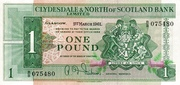 1 Pound (Clydesdale & North of Scotland Bank) – avers