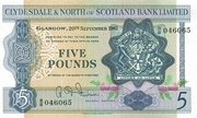 5 Pounds (Clydesdale & North of Scotland Bank) – avers