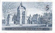 5 Pounds (Clydesdale Bank) – revers