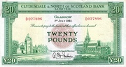 20 Pounds (Clydesdale & North of Scotland Bank) – avers