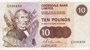 10 Pounds (Clydesdale Bank) – avers