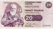 20 Pounds (Clydesdale Bank) – avers