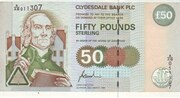 50 Pounds (Clydesdale Bank) – avers