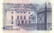 5 Pounds (Royal Bank of Scotland) – revers