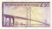 20 Pounds (Royal Bank of Scotland) – revers