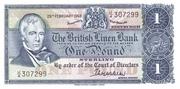 1 Pound (British Linen Bank) – avers