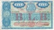 5 Pounds (British Linen Bank) – avers