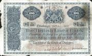 100 Pounds (British Linen Bank) – avers