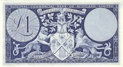 1 Pound (National Commercial Bank of Scotland) – revers